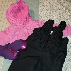Lot of snow clothes